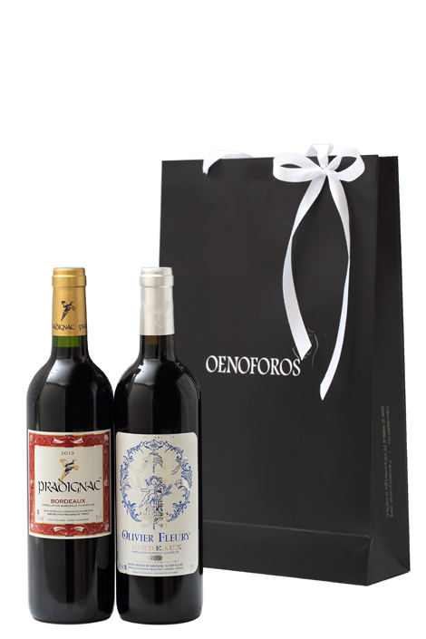 GIFT DOUBLE BAG - BORDEAUX 3