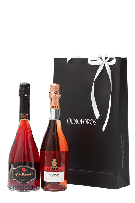 GIFT DOUBLE BAG - SPARKLING ROSE