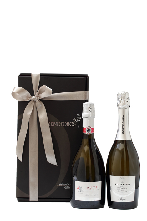 GIFT DOUBLE BOX - WHITE SPARKLING