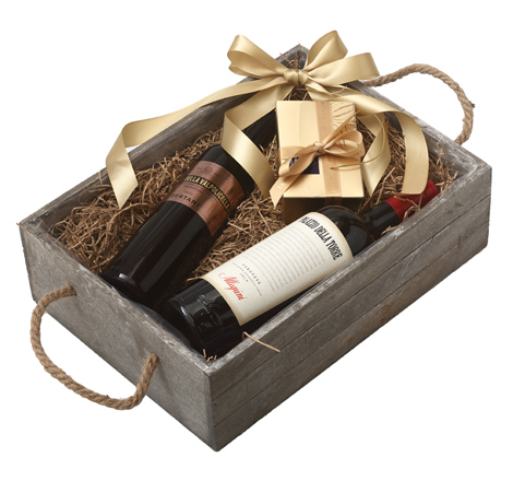 GIFT DOUBLE GREY BOX - ITALIAN RED