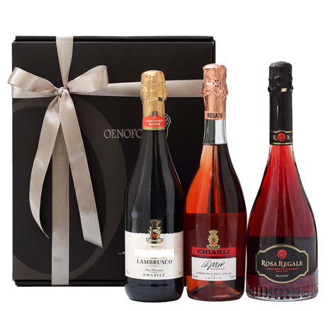 GIFT TRIPLE BOX - SPARKLING RED/ROSE